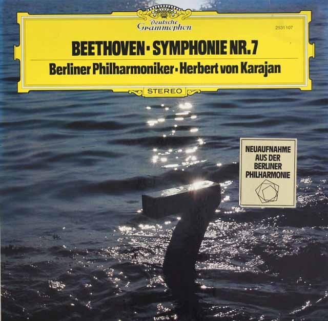 カラヤンのベートーヴェン/交響曲第7番 独DGG 3204 LP レコード