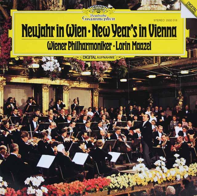 マゼールのニュー・イヤー・コンサート1981 「南国のばら」ほか 独DGG 3206 LP レコード