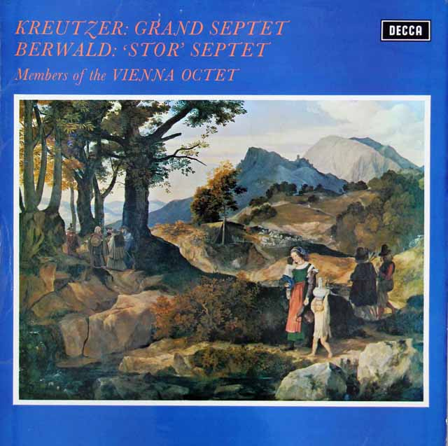 【オリジナル盤】ボスコフスキーらウィーン八重奏団のクロイツァー/大七重奏曲ほか 英DECCA 3206 LP レコード