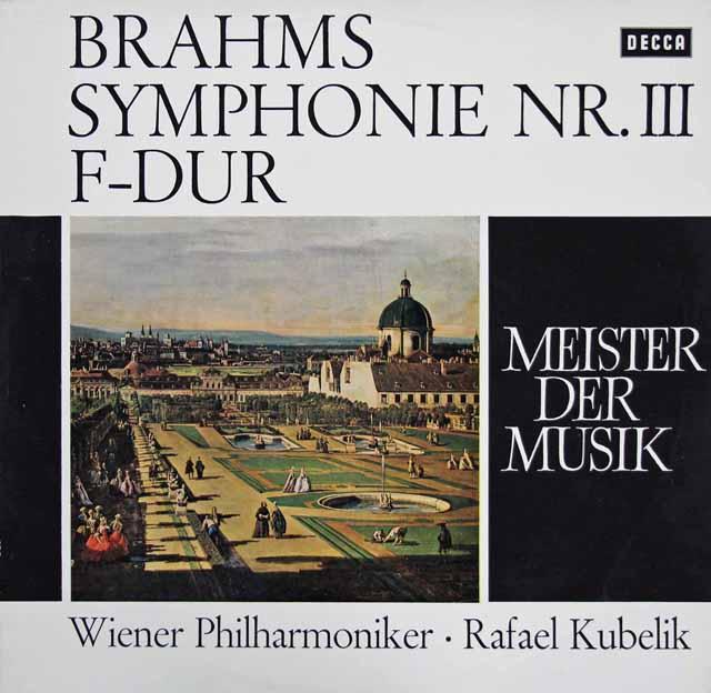 クーベリックのブラームス/交響曲第3番   独DECCA 3206 LP レコード