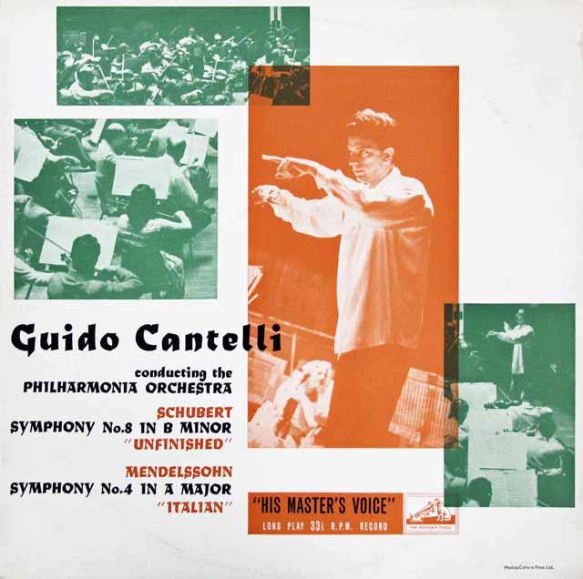 【オリジナル盤】カンテッリのシューベルト/「未完成」&メンデルスゾーン/「イタリア」  英EMI 3206 LP レコード