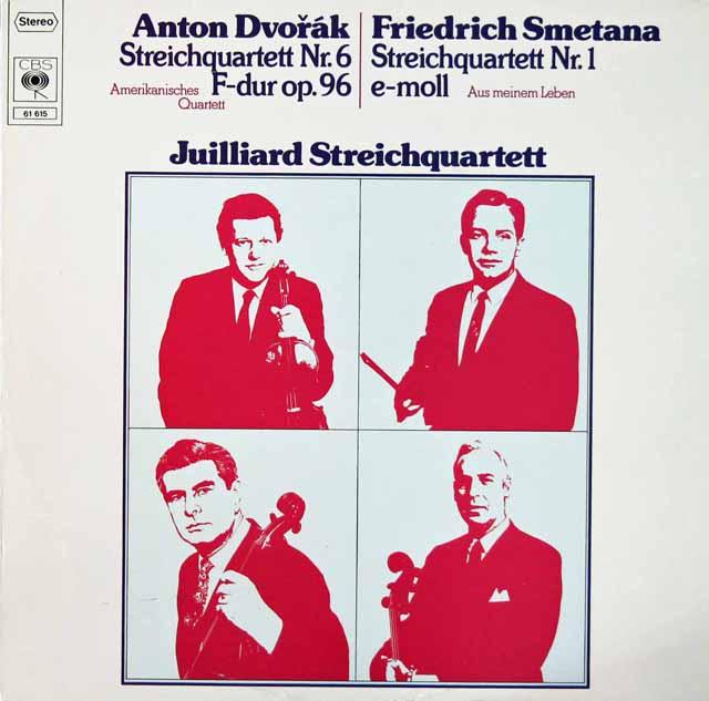 ジュリアード四重奏団のドヴォルザーク&スメタナ/弦楽四重奏曲集 独CBS 3206 LP レコード