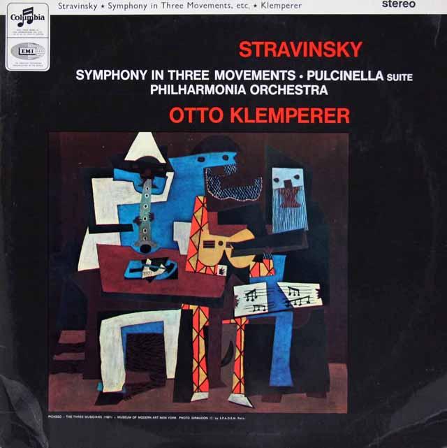 【オリジナル盤】クレンペラーのストラヴィンスキー/バレエ音楽「プルチネルラ」ほか 英Columbia 3206 LP レコード