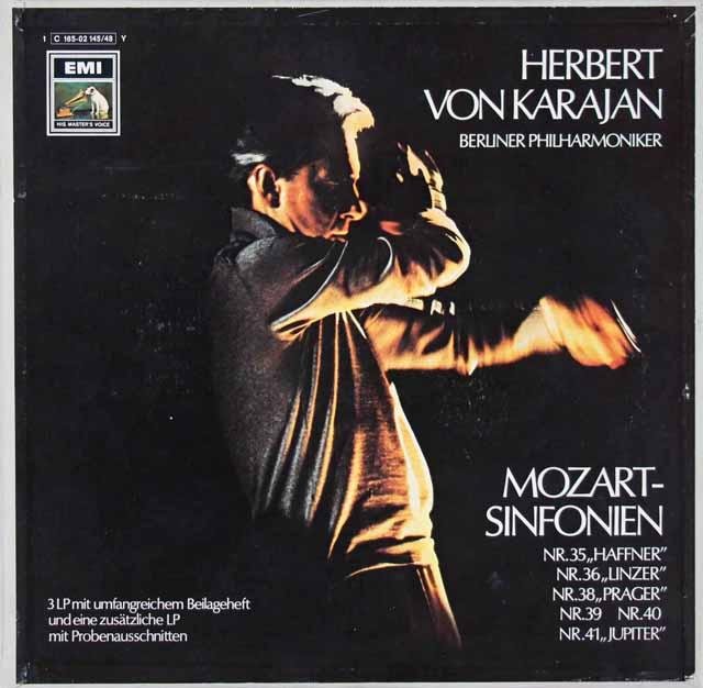 【独最初期盤】カラヤンのモーツァルト/後期交響曲集 独EMI 3206 LP レコード