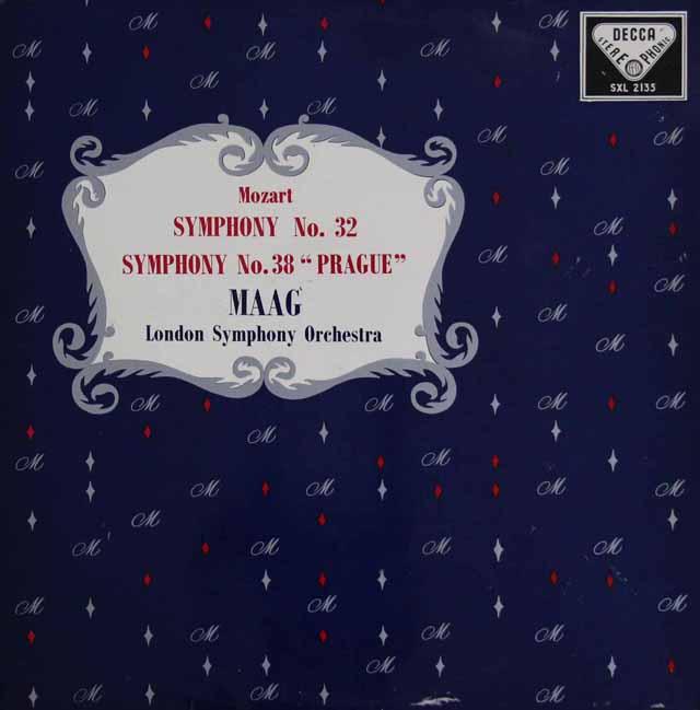【オリジナル盤】マークのモーツァルト/交響曲第38番「プラハ」ほか 英DECCA 3208 LP レコード