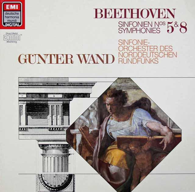 ヴァントのベートーヴェン/交響曲第5&8番 独EMI/HM 3210 LP レコード