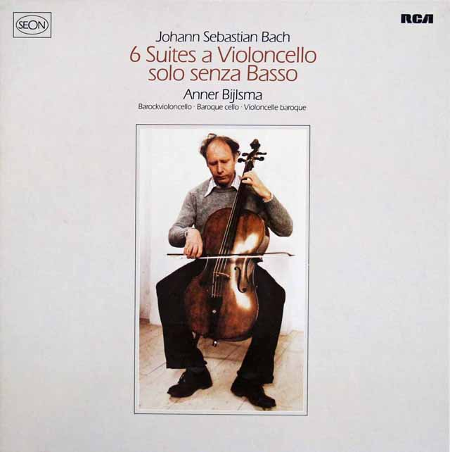 ビルスマのバッハ/無伴奏チェロ組曲 独RCA(SEON) 3211 LP レコード