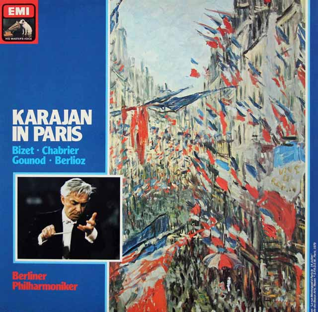「カラヤン・イン・パリ」(フランス作曲家作品集)  蘭EMI 3214 LP レコード