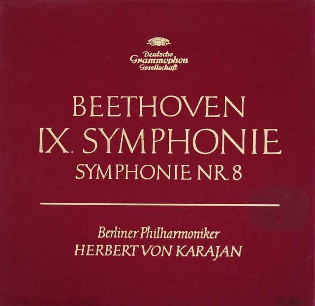 カラヤンのベートーヴェン/交響曲第8&9番「合唱付き」 独DGG 3214 LP レコード