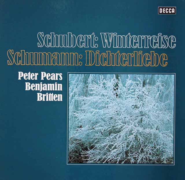ピアーズ&ブリテンのシューベルト/「冬の旅」&シューマン/「詩人の恋」 独DECCA 3215 LP レコード