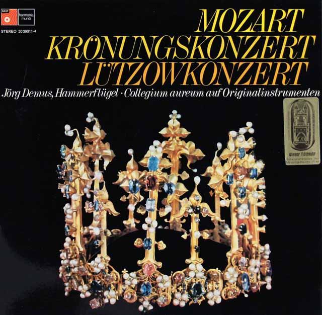 デームス&コレギウム・アウレウムのモーツァルト/ピアノ協奏曲第26番「戴冠式」ほか 独BASF 3216 LP レコード