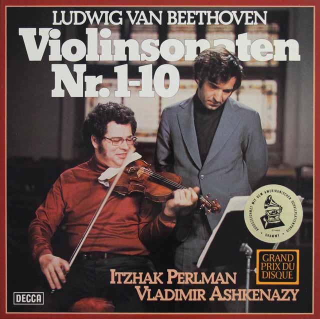 パールマン&アシュケナージのベートーヴェン/ヴァイオリンソナタ全集 独DECCA 3217 LP レコード