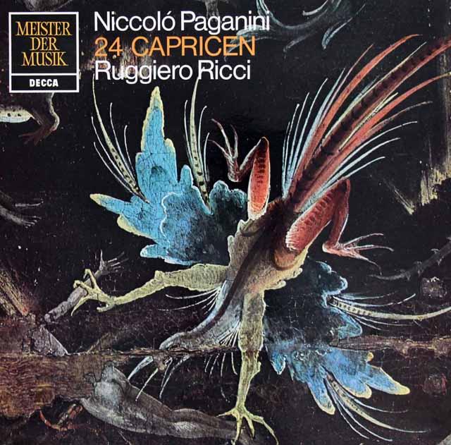 リッチのパガニーニ/24のカプリス(奇想曲) 独DECCA 3217 LP レコード