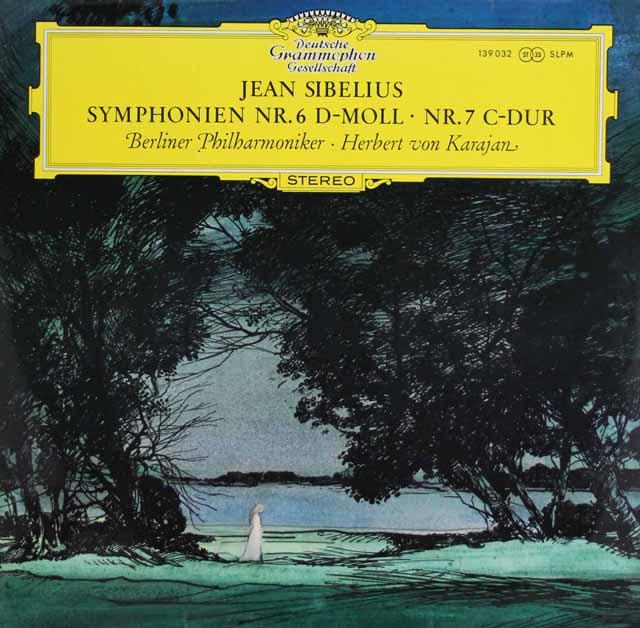 【オリジナル盤】 カラヤンのシベリウス/交響曲第6&7番 独DGG 3217 LP レコード