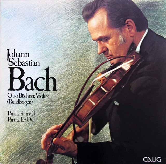 ブフナーのバッハ/無伴奏ヴァイオリンのためのパルティータ第2&3番 独CALIG 3217 LP レコード