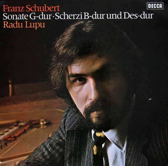 ルプーのシューベルト/ピアノソナタ第18番「幻想」ほか 独DECCA 3218 LP レコード