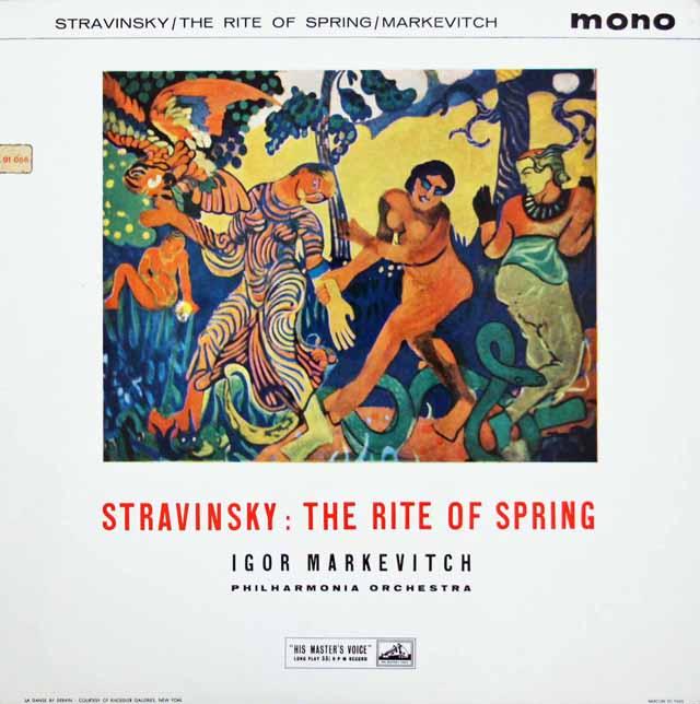 マルケヴィチのストラヴィンスキー/「春の祭典」 英EMI 3219 LP レコード