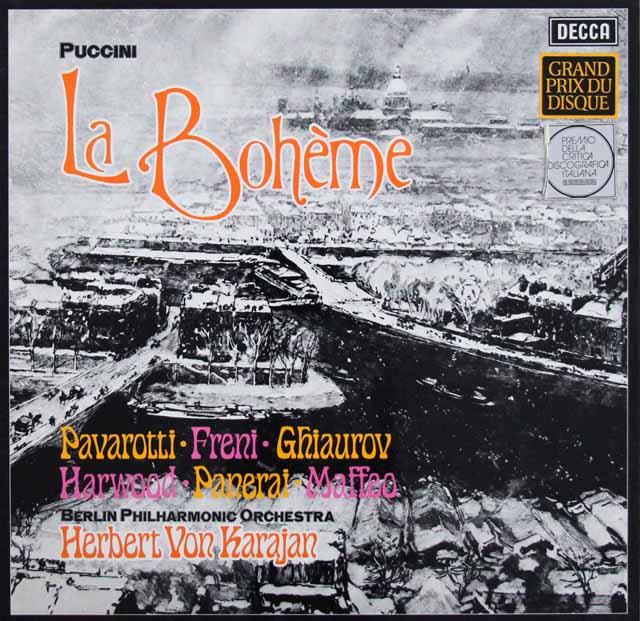 カラヤンのプッチーニ/「ボエーム」全曲 独DECCA 3220 LP レコード