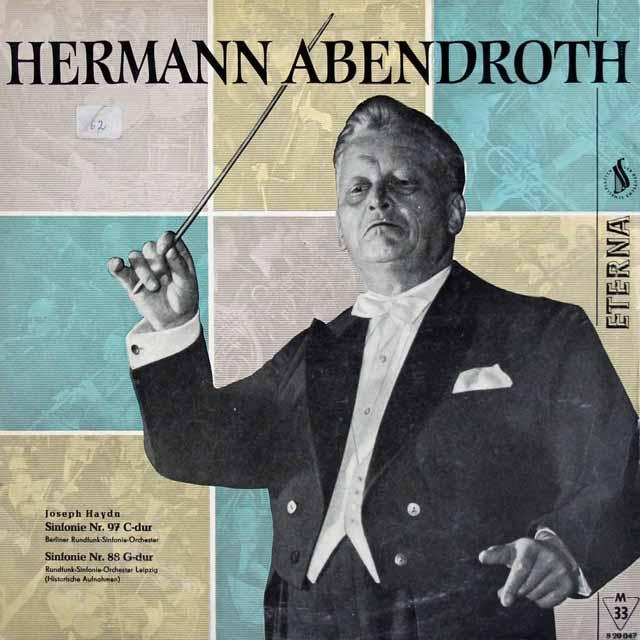 【独裁初期盤】 アーベントロートのハイドン/交響曲第97&88番 東独ETERNA 3220 LP レコード