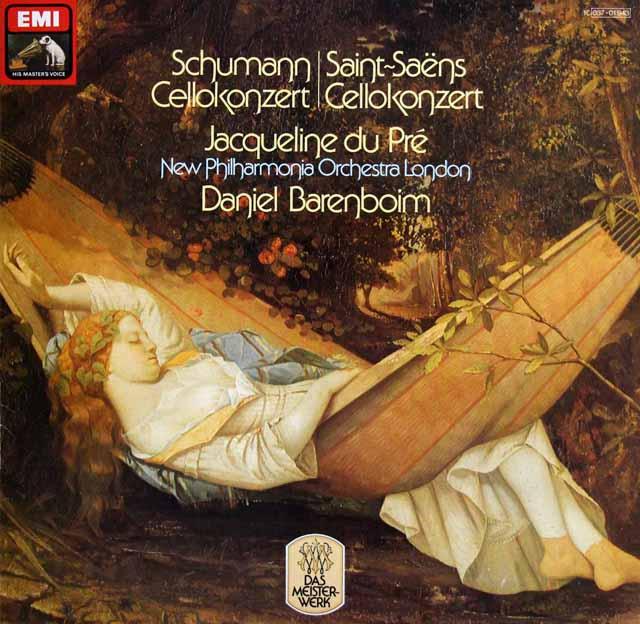 デュ・プレ&バレンボイムのシューマン/チェロ協奏曲ほか 独EMI 3226 LP レコード
