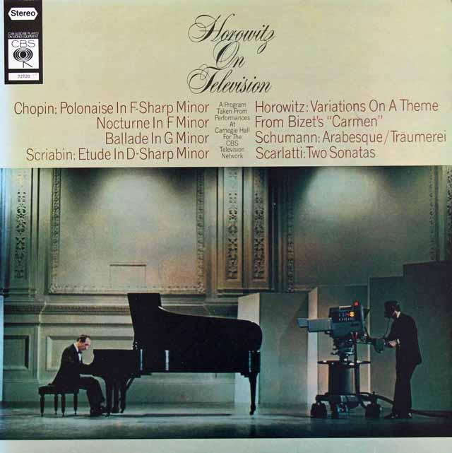ホロヴィッツ・オン・テレヴィジョン 英CBS 3227 LP レコード