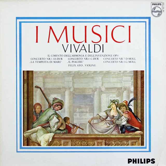 アーヨ&イ・ムジチのヴィヴァルディ/「和声と創意の試み」より「海の嵐」ほか 蘭PHILIPS 3227 LP レコード