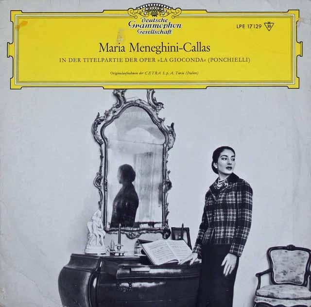 【10インチ盤】 カラス、ヴォットーのポンキエッリ/「ジョコンダ」抜粋 独DGG 3227 LP レコード