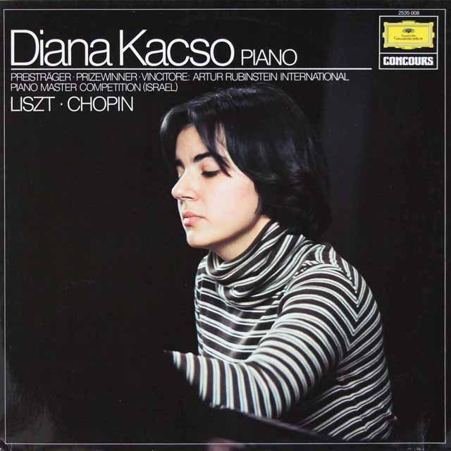 ダイアナ・カクソのリスト/ピアノソナタ ロ短調ほか 独DGG 3227 LP レコード