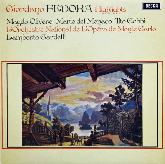 デル=モナコのジョルダーノ/ 「フェドーラ」抜粋  英DECCA 3230 LP レコード