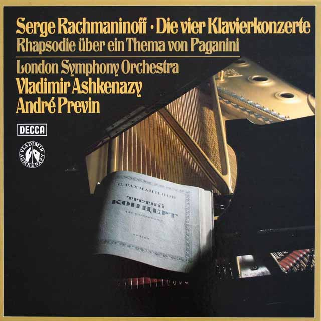 アシュケナージ&プレヴィンのラフマニノフ/ピアノ協奏曲全集 独DECCA 3230 LP レコード