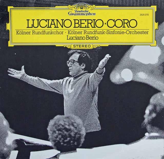 ベリオの自作自演/「コロ」  独DGG 3270 LP レコード