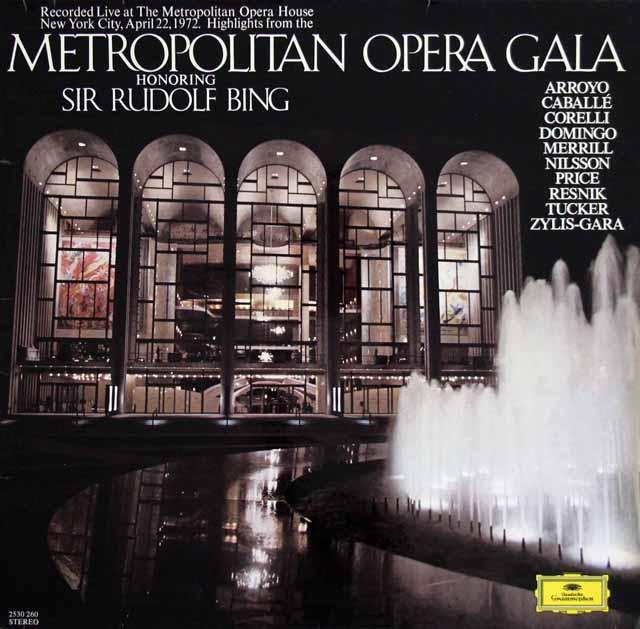 メトロポリタン・ガラ・コンサート ニルソン&ベームのR.シュトラウス/「サロメ」から他 独DGG 3301 LP レコード