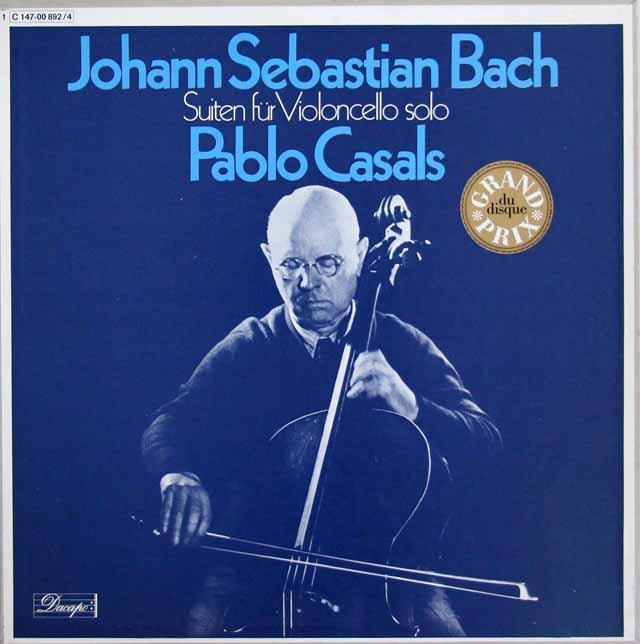 カザルスのバッハ/無伴奏チェロ組曲 独EMI 3301 LP レコード