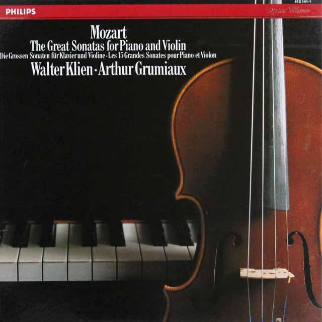 グリュミオー&クリーンのモーツァルト/ヴァイオリン・ソナタ集 蘭PHILIPS 3301 LP レコード
