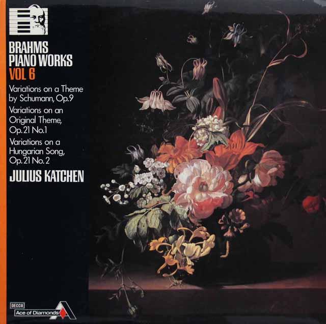 カッチェンのブラームス/シューマンの主題による変奏曲ほか 英DECCA(Ace of Diamonds)  3301 LP レコード