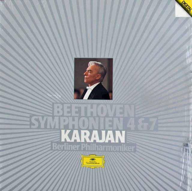 【内袋未開封】 カラヤンのベートーヴェン/交響曲第4&7番 独DGG 3303 LP レコード