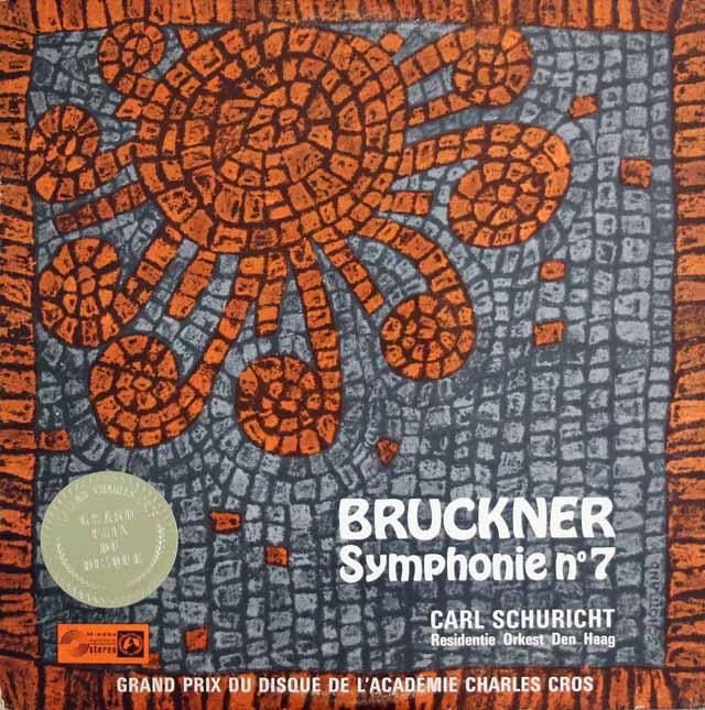 シューリヒトのブルックナー/交響曲第7番 独Concert Hall 3303 LP レコード