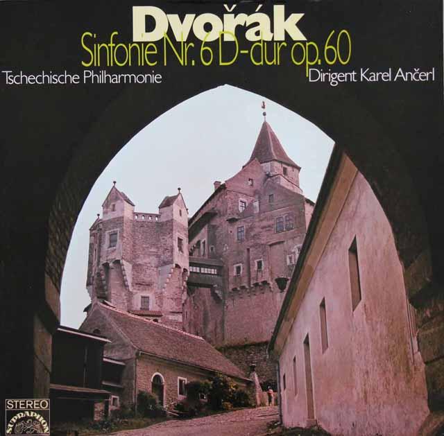 アンチェルのドヴォルザーク/交響曲第6番 独SUPRAPHON 3303 LP レコード