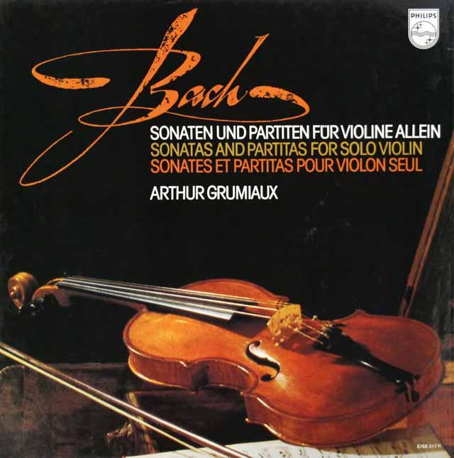 グリュミオーのバッハ/ヴァイオリンのための無伴奏ソナタとパルティータ全集 蘭PHILIPS 3304 LP レコード