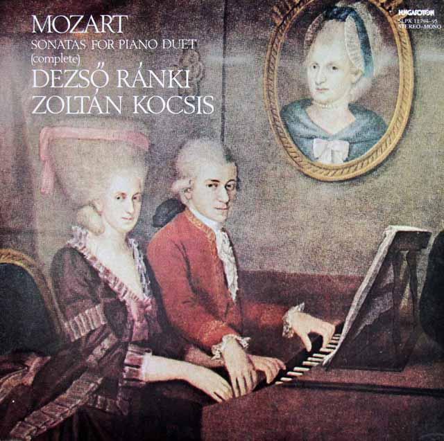ラーンキ&コチシュのモーツァルト/4手のためのピアノ・ソナタ全集 ハンガリーHungaroton 3305 LP レコード