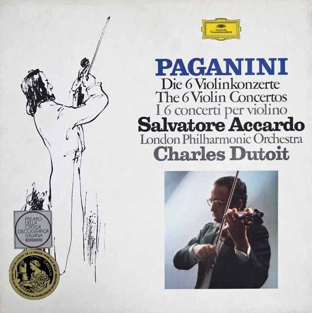 アッカルド & デュトワのパガニーニ/ヴァイオリン協奏曲全集  独DGG 3305 LP レコード