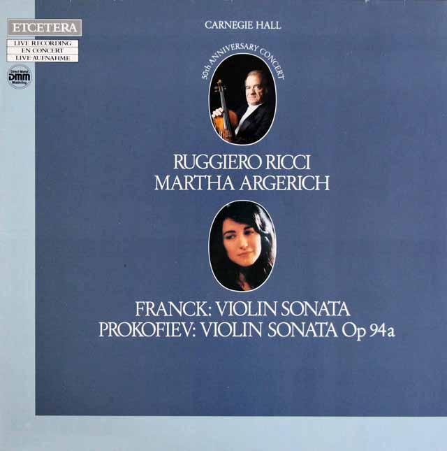 リッチ&アルゲリッチのフランク&プロコフィエフ/ヴァイオリンソナタ集  独ETCETERA 3305 LP レコード