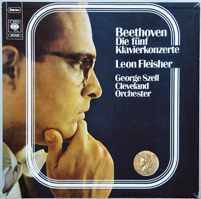 フライシャー&セルのベートーヴェン/ピアノ協奏曲全集  独CBS 3305 LP レコード