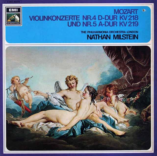 ミルシュタイン&ラインスドルフのモーツァルト/ヴァイオリン協奏曲第4、5番 独EMI 3306 LP レコード