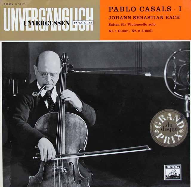 【独最初期盤】カザルスのバッハ/無伴奏チェロ組曲全集 独EMI 3309 LP レコード