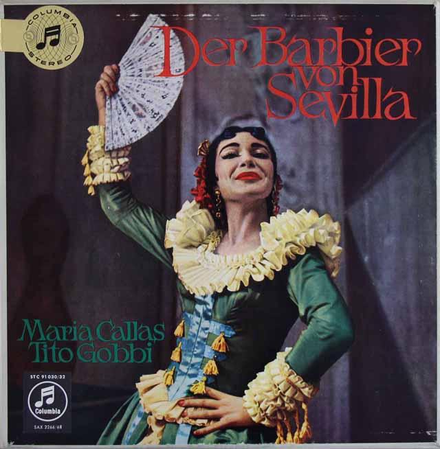 【オリジナル盤】カラス&ガリエラらのロッシーニ/「セビリアの理髪師」 英Columbia 3309 LP レコード