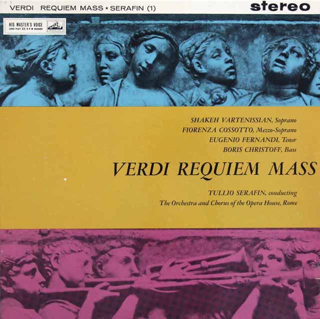 【オリジナル盤】セラフィンのヴェルディ/レクイエム 英EMI 3311 LP レコード