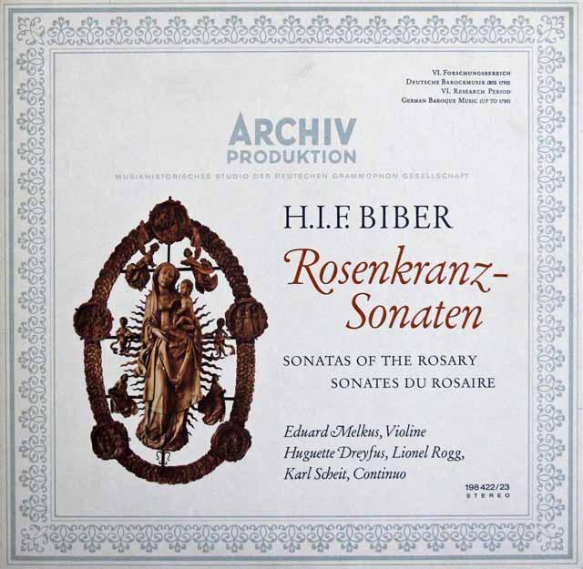 メルクスのビーバー/「ロザリオソナタ」 独ARCHIV 3311 LP レコード