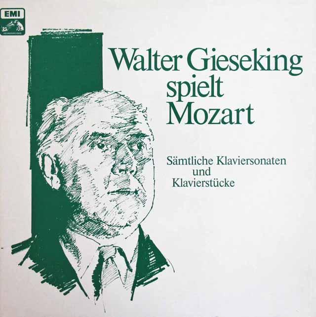 ギーゼキングのモーツァルト/ピアノ・ソナタ&ピアノ作品集 独EMI 3311 LP レコード