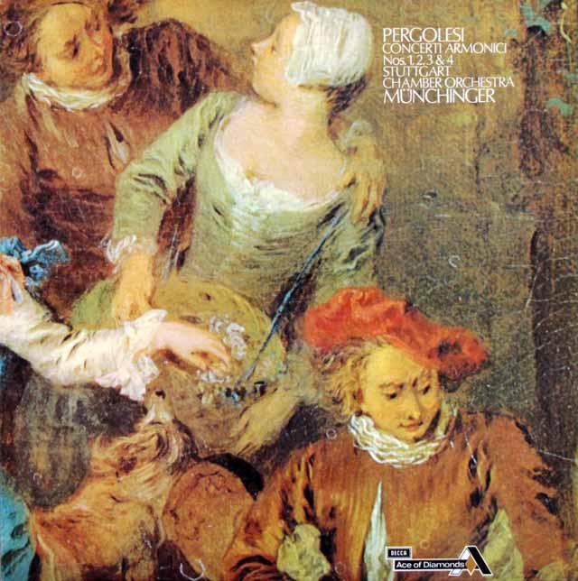 ミュンヒンガーのペルゴレージ/コンチェルティーノ・アルモニコ第1~4番 英DECCA(Ace of Diamonds) 3315 LP レコード